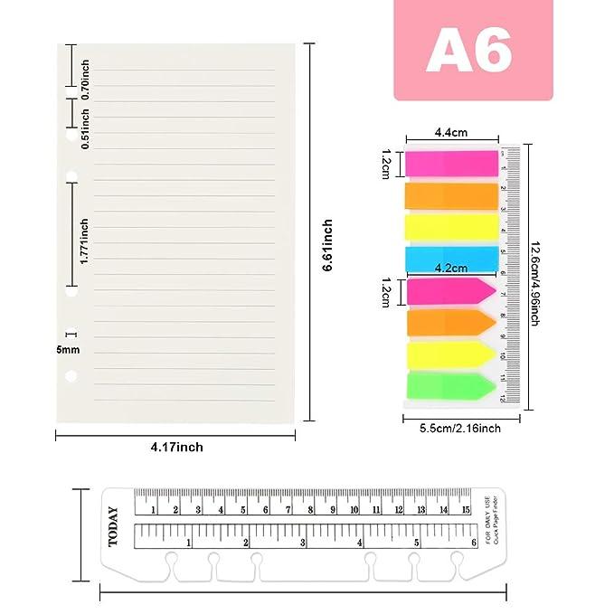Amazon.com: 2 paquetes de papel de recambio A6, 80 hojas ...