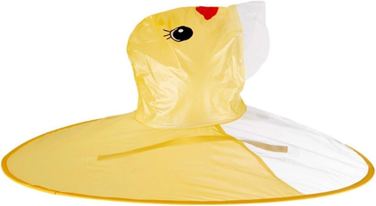Cute Rain Coat Kids Raincoat Cartoon Umbrella Yellow Duck Packable Childrens raincoat ufo Boys girls