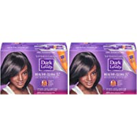 SoftSheen-Carson Dark and Lovely Healthy Gloss 5 Moisturizing No-Lye Relaxer with Shea Butter, Super, 2 Count (Package…