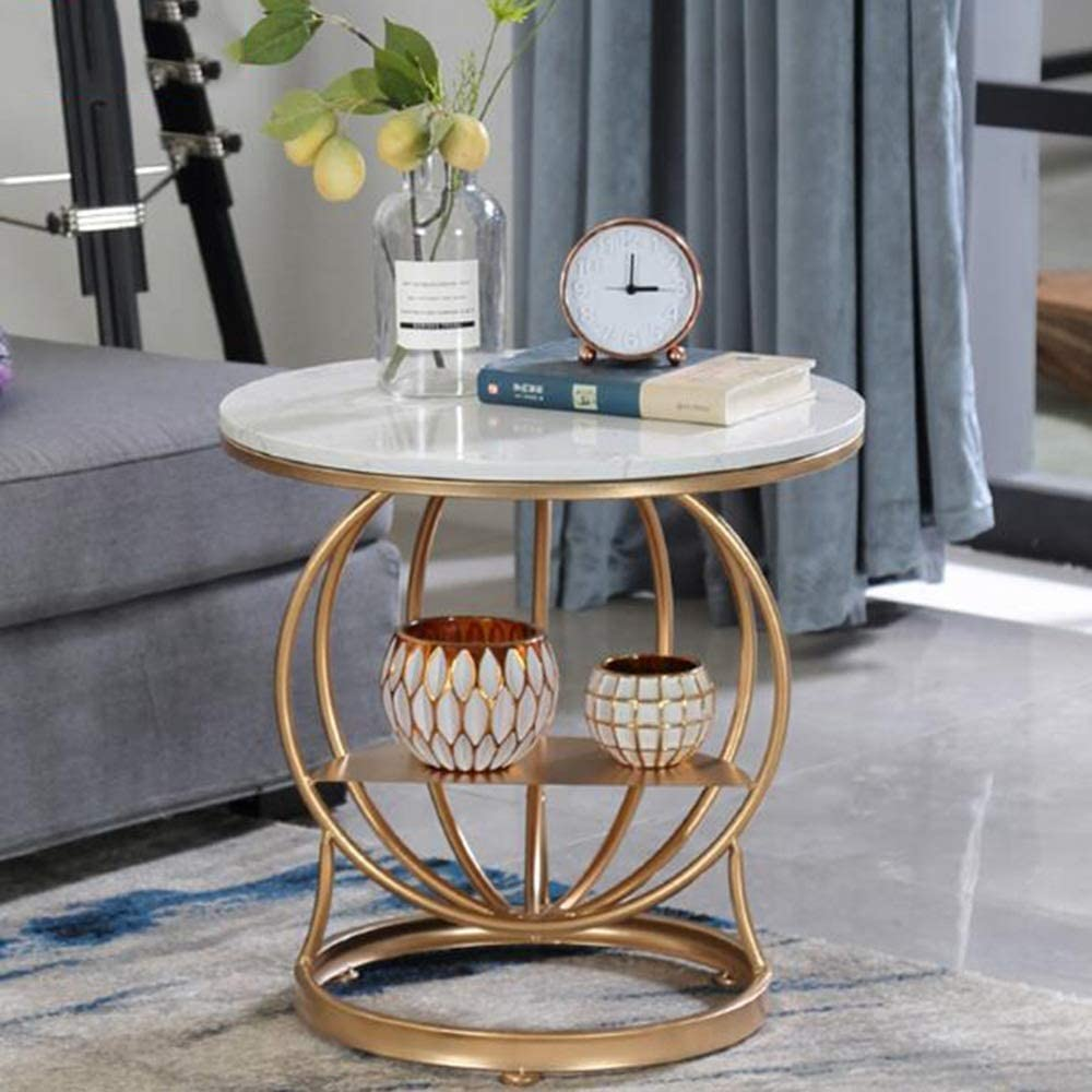 Uitverkoop Gute Tv-standaard lamp telefoontafel eiken tafel ijzeren kunst salontafel bijzettafel woonkamer ronde tafel sofa bijzettafel marmer nachtkastje 4, MK 1 1 Wv4S2OP