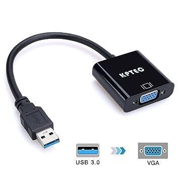 Amazon.com: kptec 1080P USB 3.0 a VGA adaptador, tarjeta de ...