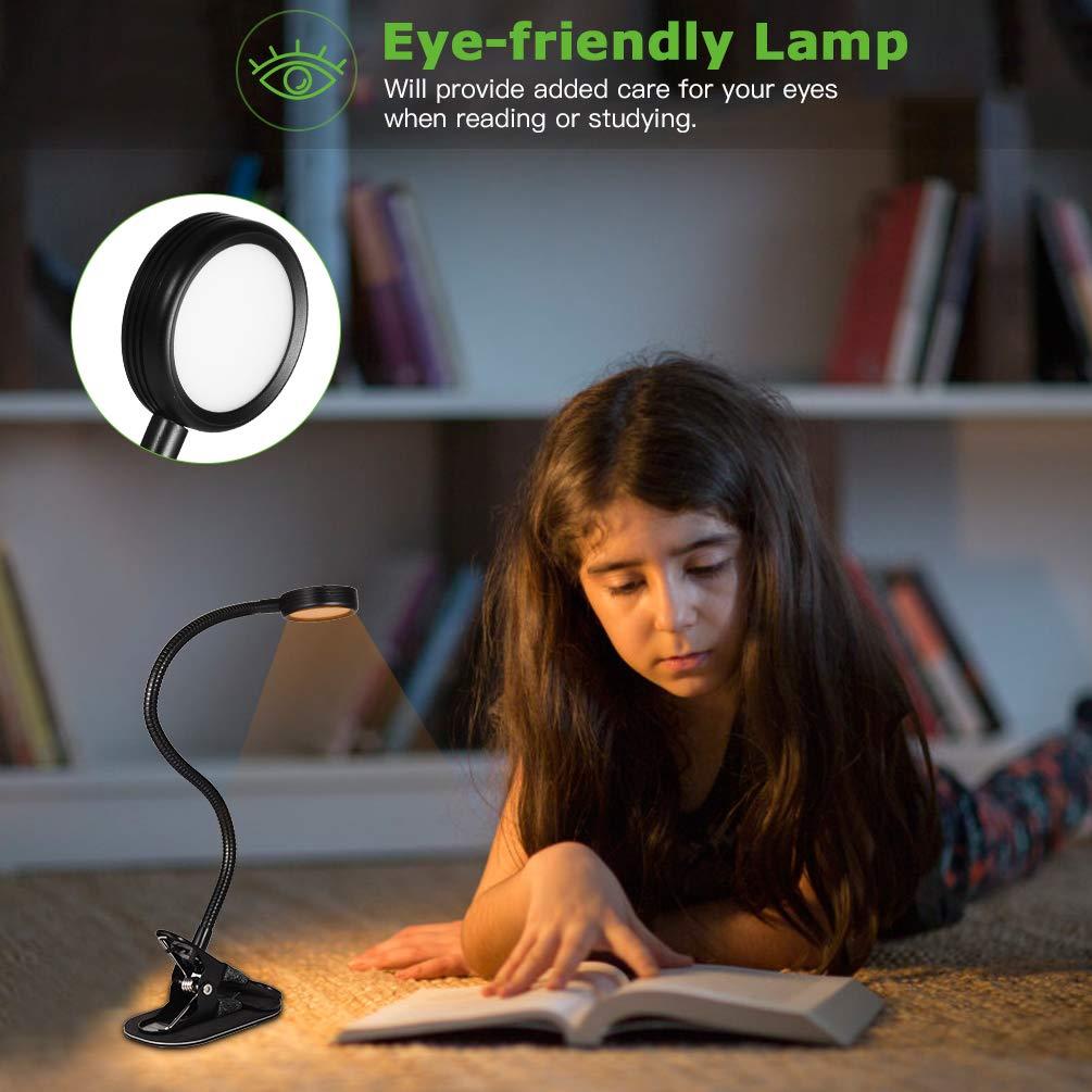 Anti Slip Base Black Ledgle Clip On Lamp Dimmable Desk Lamps Eye Friendly Reading Lamp With 2 Color Temperature Settings 2 Brightness Levels Flexible Hose Desk Lamps Home Garden Store