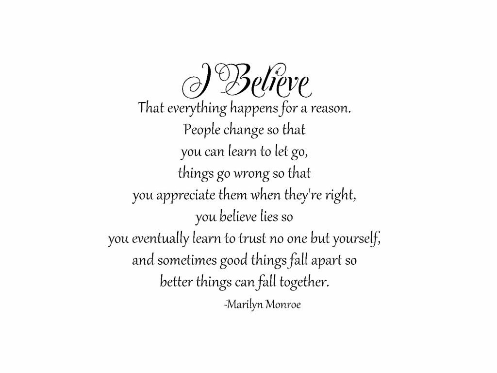 Amazoncom I Believe That Everything Happens For A Reason People