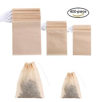 ABREOME 400tlg Bolsas de té Filtro de té Tiendas Rellenable ...