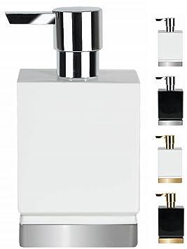 Spirella colección Roma, Dispensador de jabón líquido 17,0 x 4,5 x 9,0 cm, Porcelana, Blanco: Amazon.es: Hogar