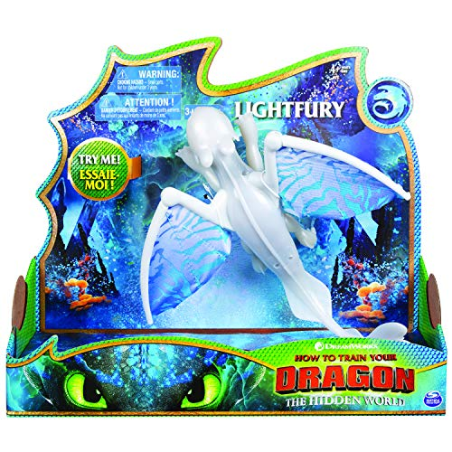(Dreamworks Dragons, Lightfury Deluxe Dragon with Lights and Sounds, for Kids Aged 4 and Up)