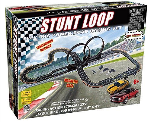Golden Bright 6677 Electric Power Stunt Loop Road Racing Set, Multicolor, 1