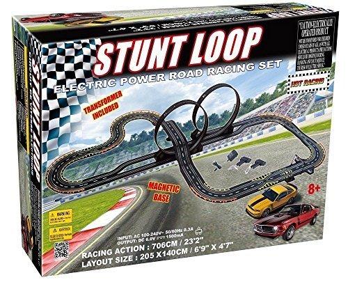 (Golden Bright 6677 Electric Power Stunt Loop Road Racing Set, Multicolor, 1 )