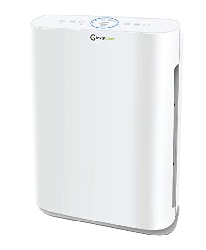 InvisiClean Sensa Air Purifier for Home with Auto Sensing Air Quality Monitor for Bedrooms, Allergies