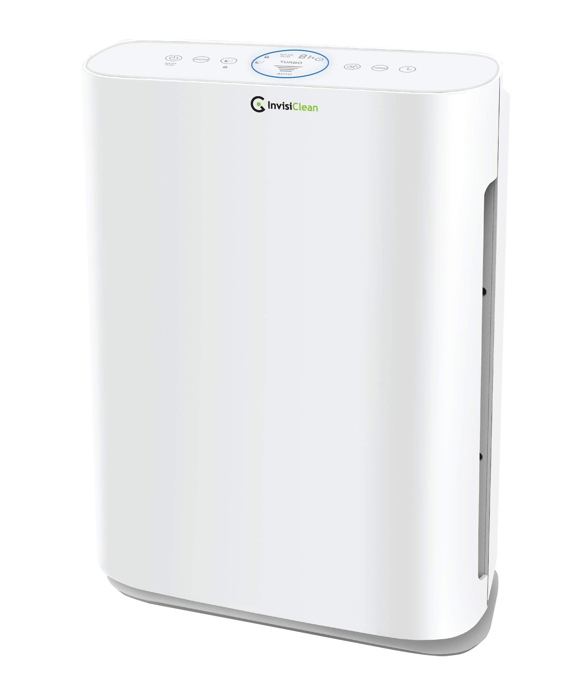 InvisiClean Sensa Air Purifier for Home – Smart Air Quality Sensor for Bedrooms, Allergies and Pets, Large Rooms, Smoke, Dust, Mold, Allergens, Odors, True HEPA, Carbon, Ultra Quiet, No Ozone IC-5120