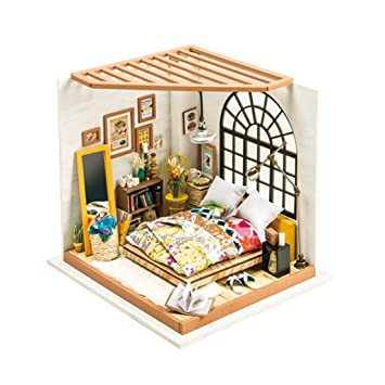 Surprising Kehuashina Creative Diy Dollhouse Kit Miniature Dreamy Bedroom Kits Wiring Digital Resources Cettecompassionincorg