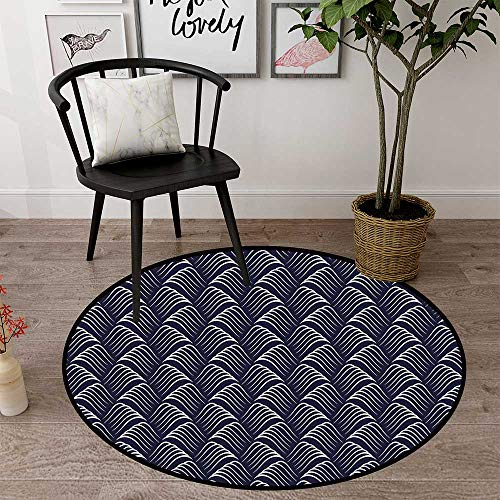 Round mat for Door Entrance Indoor Round Indoor Floor mat Entrance Circle Floor mat for Office Chair Wood Floor Circle Floor mat Office Round mat for Living Room Pattern 2