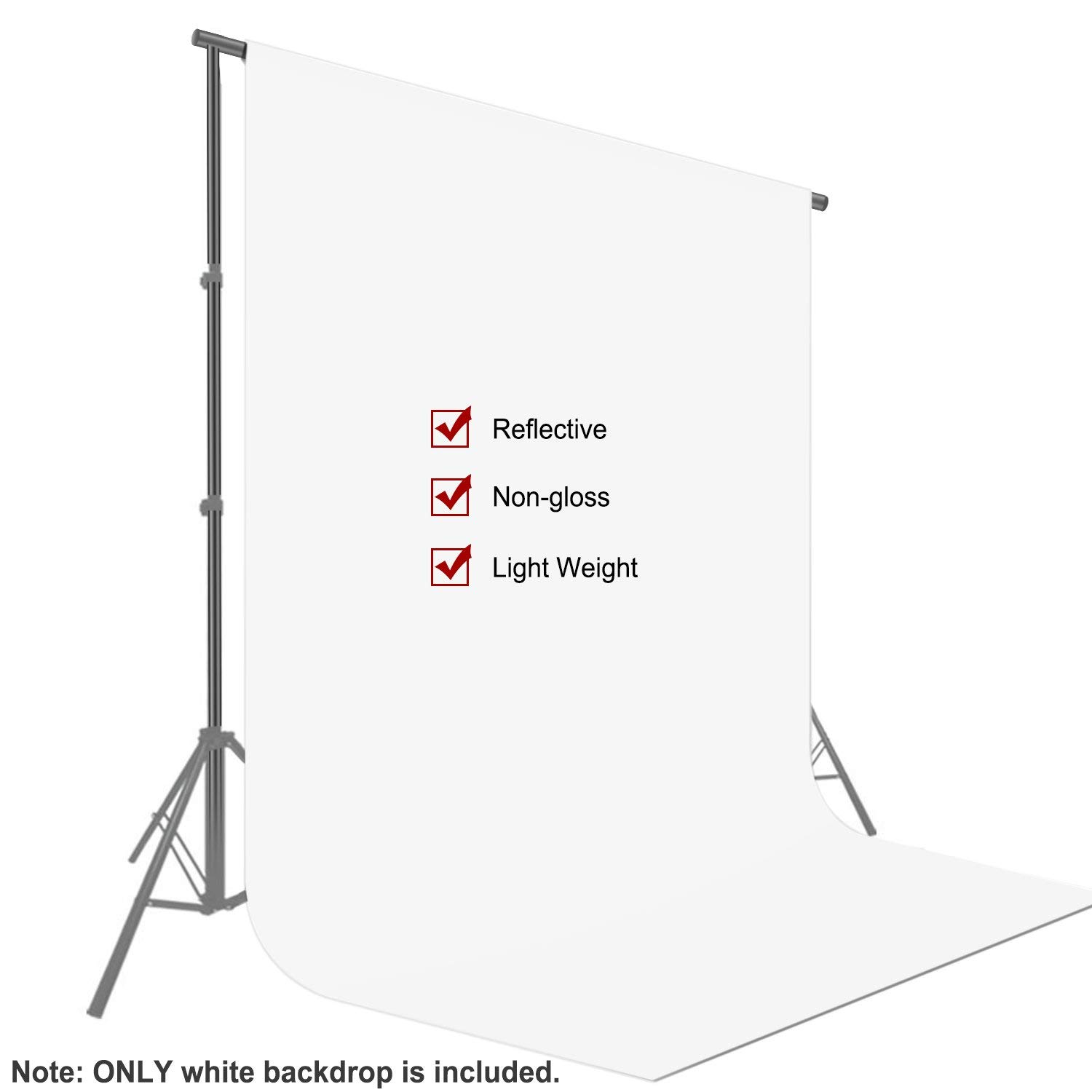 Neewer 10 x 12FT / 3 x 3.6M PRO Photo Studio Fabric Collapsible Backdrop Background for Photography,Video and Televison (Background ONLY) - White by Neewer (Image #2)