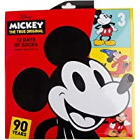 Mickey Mouse 90th Anniversary 12 Days of Socks Advent Calendar Gift Set (Womens)