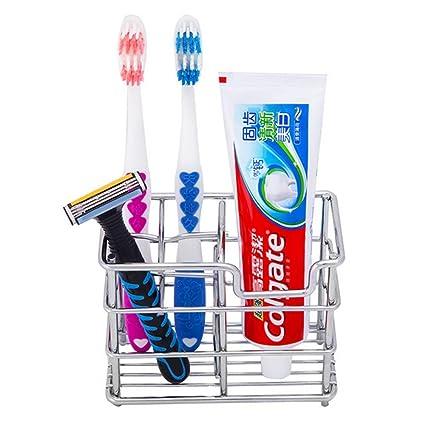 PAWACA Estante Organizador de almacenamiento de baño cepillo de dientes soporte para pasta de dientes de