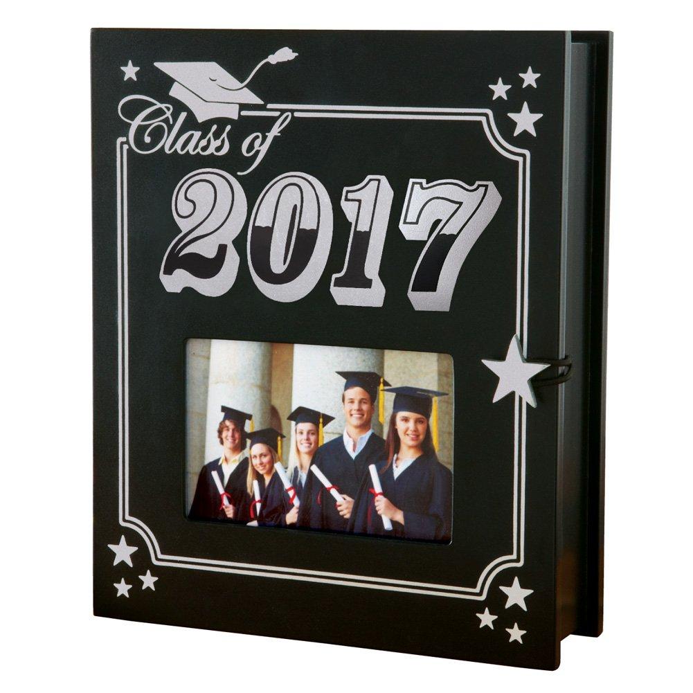 Collections Etc Class of 2017 Memories Keepsake Holder, Black