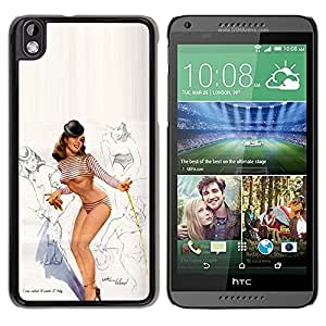 LASTONE PHONE CASE / Slim Protector Hard Shell Cover Case for HTC DESIRE 816 / Model Lingerie Sexy Legs Breast by ruishername