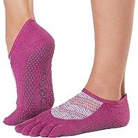 Toesox Grip Pilates Barre Socks - Non Slip Luna Full Toe For Yoga & Ballet - Calcetines Mujer