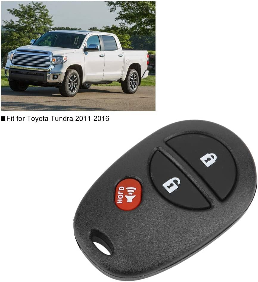 3 Buttons Keyless Entry Remote Key Fob Fit for Tundra 2011-2016 Button Cell Included Gorgeri 315MHz Remote Entry Key