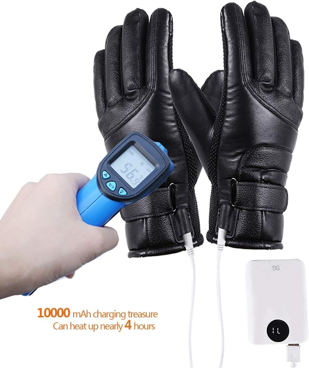 Esqu/í Invierno Protecci/óN contra El Fr/íO QQLK Guantes Calefactables Moto USB Utilizado para Mujer Y Hombre Caza Equitaci/óN,1