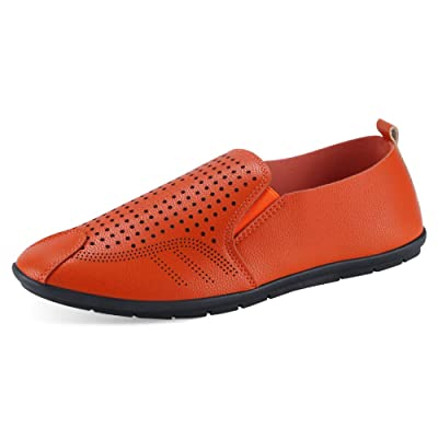 Padgene Men's Premium Genuine Leather Casual Slip on Loafers Breathable Walking Shoes Fashion Slipper | Loafers & Slip-Ons