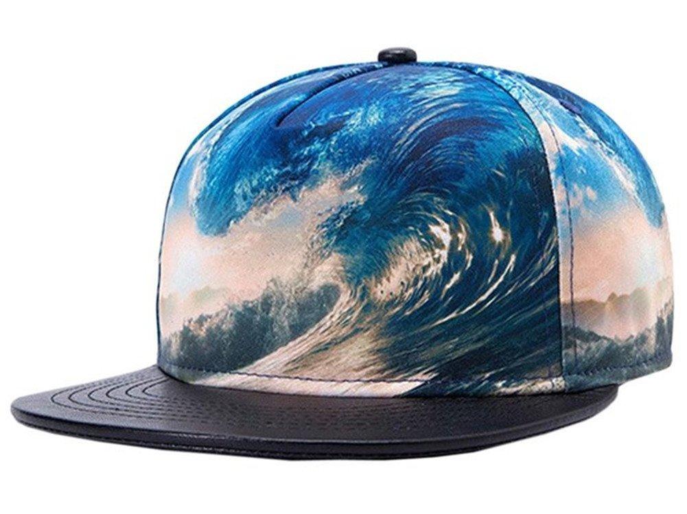 Damen Baseball Cap Beach Trucker Hat, Combed Mütze, BaseballKappe, Snapback Baseball Cap, Mehrfarbig, Einheitsgröße Combed Mütze Einheitsgröße Blue Oceans