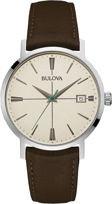 Bulova Men's 96B242 20mm Leather Calfskin Brown Watch Bracelet