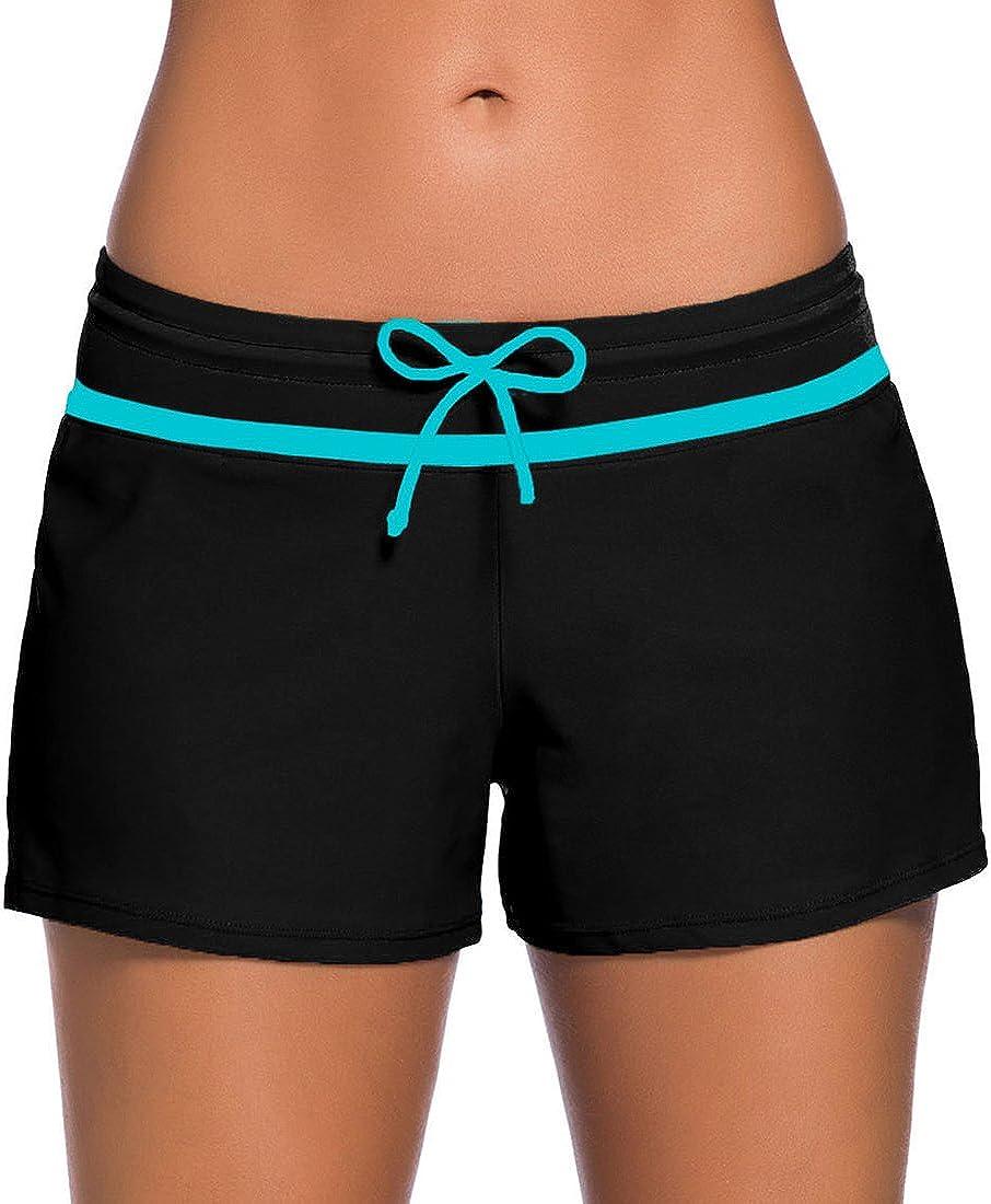 PANOZON Damen Wassersport Bikinihose Badeshorts UV-Schutz Schwimmen Badehose Boardshorts Schwimmshorts