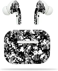 MightySkins Skin Compatible with Apple AirPods Pro - Black Modern Camo | Protective, Durable, and Unique Vinyl Decal wrap Cover | Easy to Apply, Remove, and Change Styles | Made in The USA