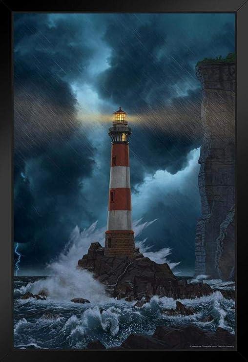 "Stormy Night Metal Wall Art Decor 20/"""