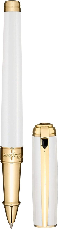 S.T. Dupont D-412109M ラインDパールホワイトイエローゴールド ローラーボールペン