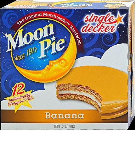Single Decker Moonpies - Choose your favorite flavor - Chocolate, Vanilla, Banana & Salted Caramel (Banana)