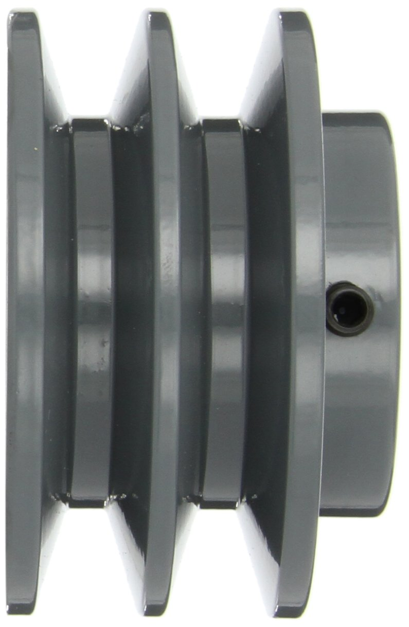 3//4 Bore 2BK Type 3.55 OD Gates 2BK34 Light Duty Solid Sheaves 2 Groove