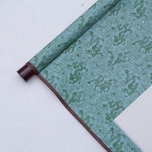 JZ014 Hmayart kakejiku Blank Mounting Hanging Wall Scroll Set for Kanji, Sumi and Chinese Calligraphy (6pcs/Set) (Scroll Size: 14.96'' x 41.34'' (38 x 105 cm)) by Hmayart (Image #2)