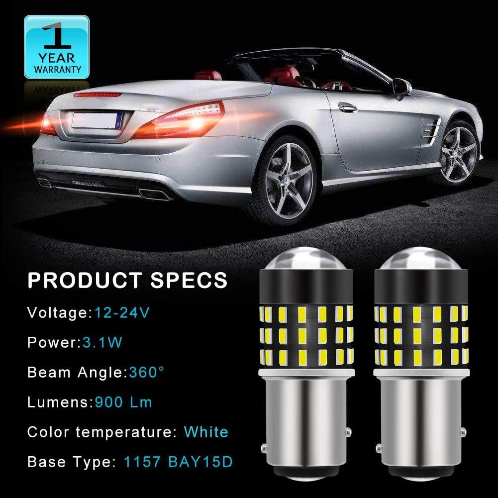 2 paquetes luz diurna TUINCYN 7443 7440 T20 7444NA 992 Bombillas LED /ámbar 3014 54-EX Chipsets luz de respaldo luz de estacionamiento luz de se/ñal de giro trasera