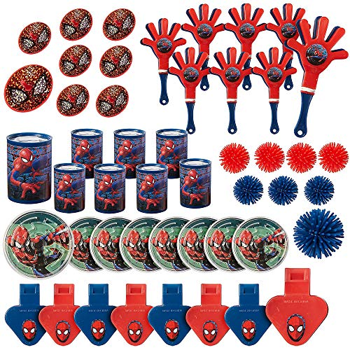 (Amscan Spider-Man Webbed Wonder Mega Mix Value Pack, Party)