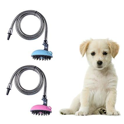 Amazon Com Pet Shower Head Sprayer Massage Shampoo Brush Grooming