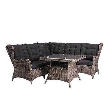 Amazon.de: OUTLIV. Dining Lounge Argos Lounge Ecke 4-tlg Polyrattan ...