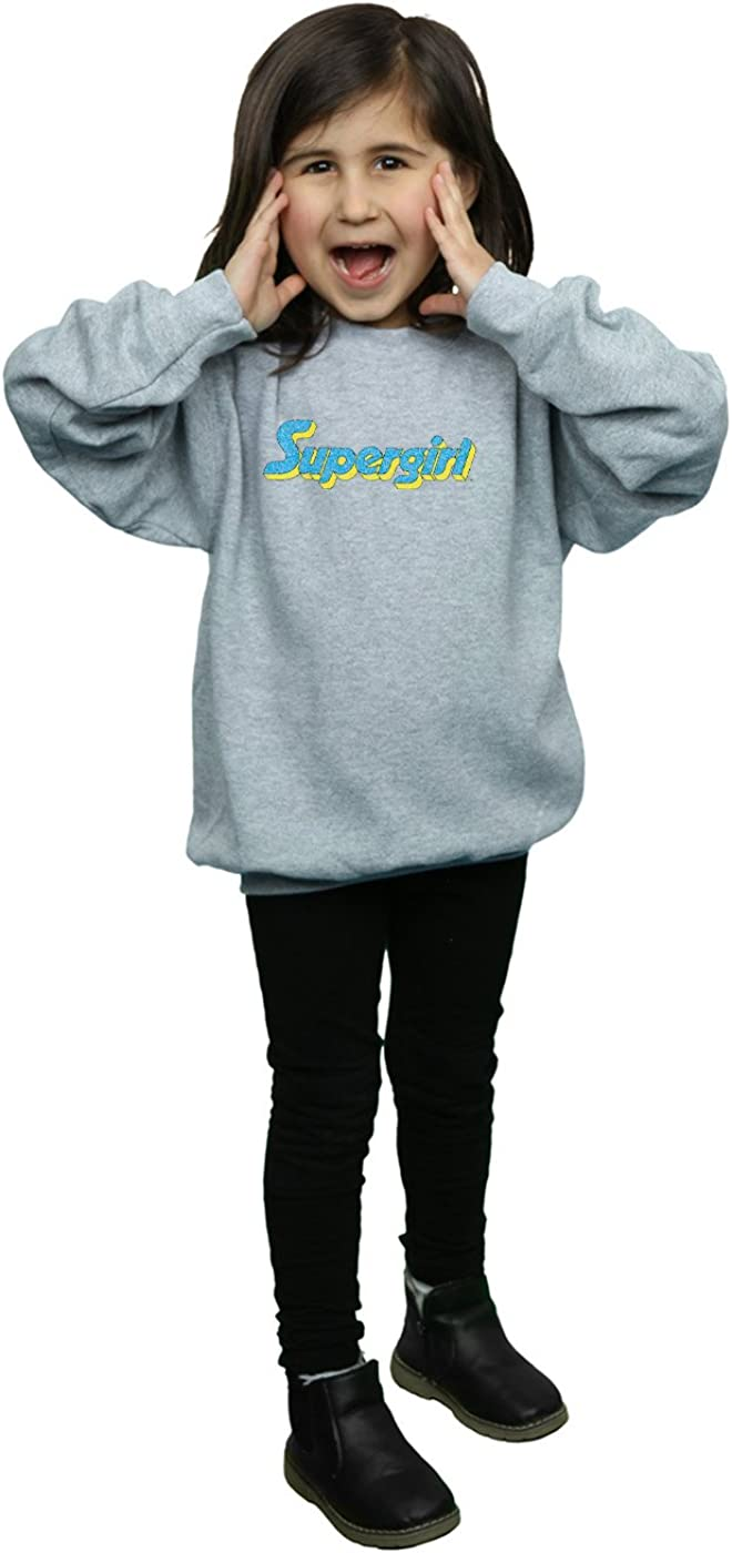 DC Comics Girls Supergirl Crackle Logo Sweatshirt
