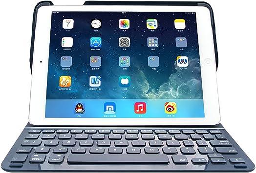 iPad Air 2 Teclado Funda inalámbrico Bluetooth Teclado Funda ...