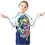 Fusion Harley Quinn Kids Rash Guard Compression Shirt Long Sleeve