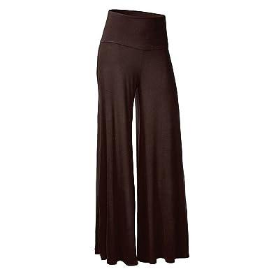 Cystyle Casual Hosenrock Damen Lang elegant Palazzo Hosen Wide Leg Pants  Lagenlook Hosen Lagen Hose mit leichte elastische  Amazon.de  Bekleidung 44b09468ef