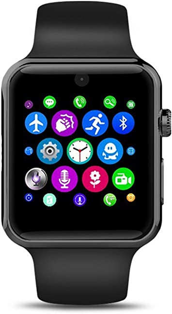 Smart Watch Evershop® con Bluetooth 2.5 D, pantalla Arc HD, protector de tarjeta SIM. Dispositivos de uso diario para smartphone, rastreador de actividad, para IOS y Android: Amazon.es: Electrónica