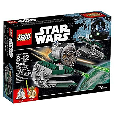 LEGO Star Wars Yoda's Jedi Starfighter 75168 Building Kit (262 Pieces): Toys & Games