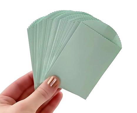 Amazon.com: 50 mini bolsas de papel de menta – 4.0 in x 2.5 ...