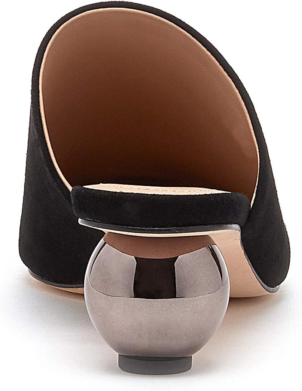 Pour La Victoire Kiera Sphere Mirrored Heeled Mule