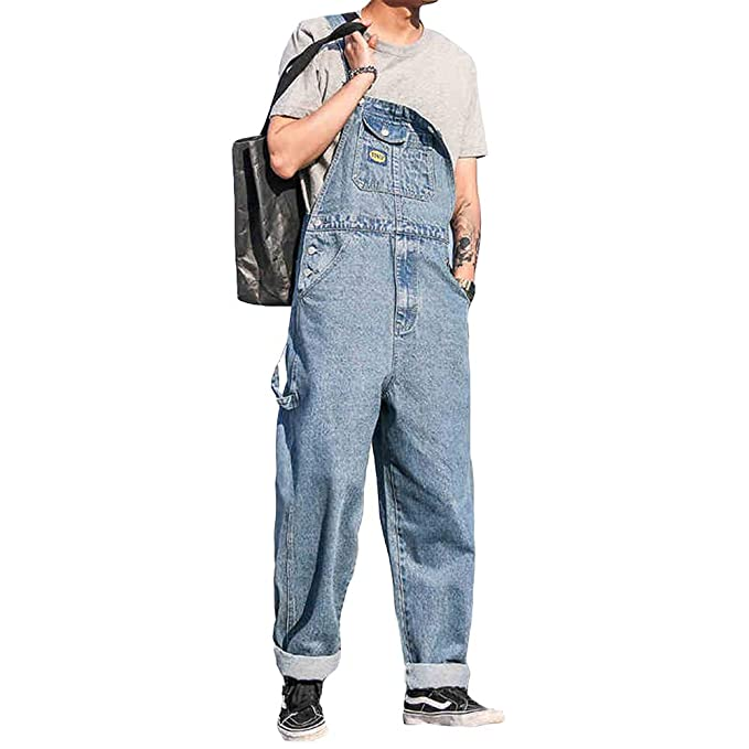 Simple Korean Fashion Men Trouser Pants Light Thick Denim