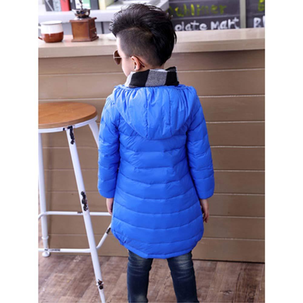 Kids Solid Color Thicken Windproof Casual Coat Jacket KINDOYO Boys Girls Coat