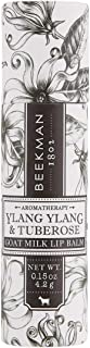 product image for Beekman 1802 - Lip Balm - Ylang Ylang & Tuberose - Luxuriously Moisturizing Goat Milk Lip Balm For Dry, Cracked Lips - Goat Milk Lip Care - 0.15 oz