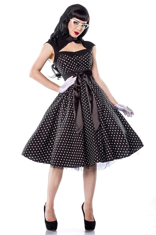 Chic Star - Rockabilly-Kleid - schwarz/weiß - M